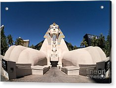 Great Sphinx Of Giza Luxor Resort Las Vegas Acrylic Print by Edward Fielding