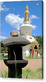 Acrylic Print featuring the photograph Great Stupa Of Dharmakaya by Brenda Pressnall