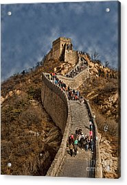 Acrylic Print featuring the photograph Great Wall O China by Shirley Mangini