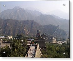 Great Wall Of China At Badaling Acrylic Print