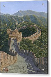 Great Wall Of China Mutianyu Section Acrylic Print by Richard Harpum