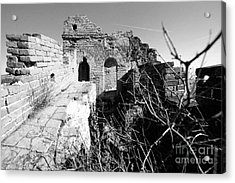 Acrylic Print featuring the photograph Great Wall Ruins by Yew Kwang