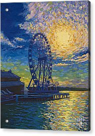 Great Wheel Sunset Acrylic Print