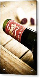 Great Wines Of Bordeaux - Chateau Mouton Rothschild Acrylic Print by Frank Tschakert
