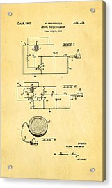 Greatbatch Cardiac Pacemaker Patent Art 1962 Acrylic Print by Ian Monk