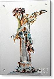 Greek Angel Acrylic Print by Maria Barry
