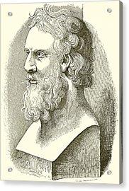Greek Bust Of Plato Acrylic Print by English School