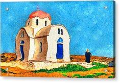 Greek Church 4a Acrylic Print by George Rossidis