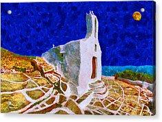 Greek Church 5 Acrylic Print by George Rossidis
