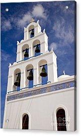 Greek Church Bells Acrylic Print by Brian Jannsen