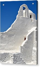 Greek Church Acrylic Print by Corinne Rhode