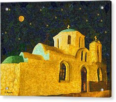 Greek Church Acrylic Print by George Rossidis