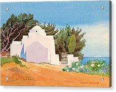 Greek Church Wc Acrylic Print by Robert Tyndall