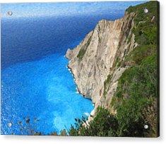 Greek Coast Grk4188 Acrylic Print