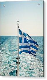 Greek Flag Acrylic Print