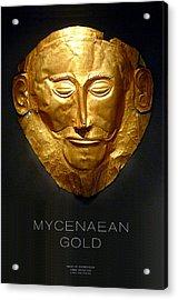 Greek Gold - Mycenaean Gold Acrylic Print by Helena Kay