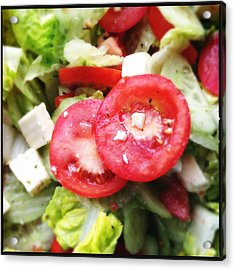 Greek Salad With Tasty Tomatoes Acrylic Print