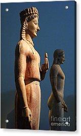 Greek Sculpture Athens 1 Acrylic Print by Bob Christopher