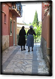 Greek Women Acrylic Print