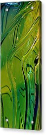 Green Abstract Acrylic Print by Bruce Bley