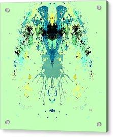 Green Alien Acrylic Print