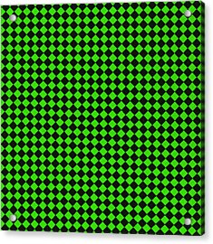Green And Black Checkered Pattern Cloth Background Acrylic Print by Keith Webber Jr