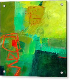 Green And Red #1 Acrylic Print by Jane Davies