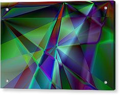 Green And Violet In A Dynamic Light Dialogue Acrylic Print by Art Di
