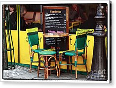 Green And Yellow In Paris Acrylic Print by John Rizzuto