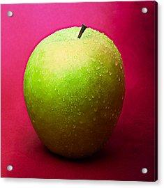 Green Apple Whole 1 Acrylic Print by Alexander Senin