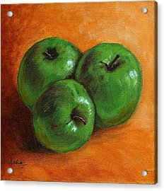 Green Apples Acrylic Print by Asha Sudhaker Shenoy
