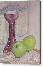 Green Apples Acrylic Print by Carol Flagg