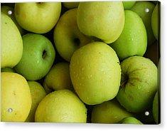 Green Apples Acrylic Print by Mamie Gunning