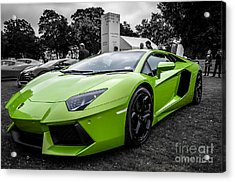 Acrylic Print featuring the photograph Green Aventador by Matt Malloy