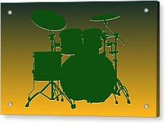 Green Bay Packers Drum Set Acrylic Print
