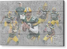 Green Bay Packers Team Acrylic Print by Joe Hamilton