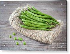 Green Beans Acrylic Print by Sabino Parente