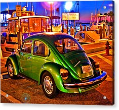 Acrylic Print featuring the photograph Green Beetle by Christopher McKenzie