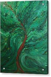 Green Bliss Acrylic Print by Felix Concepcion