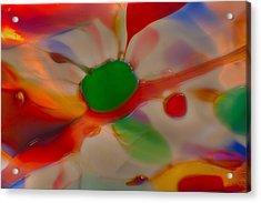 Green Butterfly Acrylic Print by Omaste Witkowski