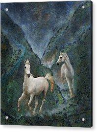 Green Canyon Run Acrylic Print
