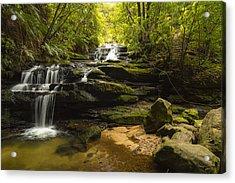Green Cascades Acrylic Print