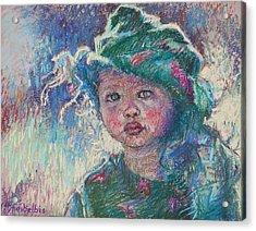 Green Child Acrylic Print