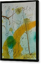 Green Circle Abstract Acrylic Print by Gloria Cooper