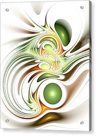 Green Creation Acrylic Print by Anastasiya Malakhova