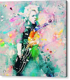 Green Day  Acrylic Print by Rosalina Atanasova