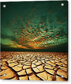 Green Dead Valley Acrylic Print by Boon Mee
