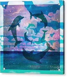 Green Dolphin Dance Acrylic Print