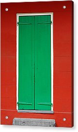 Green Door In New Orleans Acrylic Print