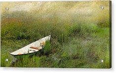 Green Dory Acrylic Print by Karen Lynch